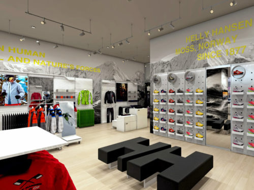 New Helly Hansen Store in Mall of Africa; Shopfitted by Shopfitting Depot; desinged by Plan-it Design