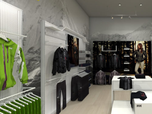New Helly Hansen Store in Mall of Africa; Shopfitted by Shopfitting Depot; visual merchandising